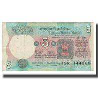 Billet, Inde, 5 Rupees, KM:80a, TTB - Inde