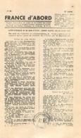 RESISTANCE FRANCE D'ABORD COMMUNIQUE DES F.T.P.F. ZONE NORD 1944 - 1939-45