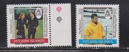 PITCAIRN ISLANDS Scott # 275-6 MNH - Royal Wedding Prince Andrew - Pitcairn Islands