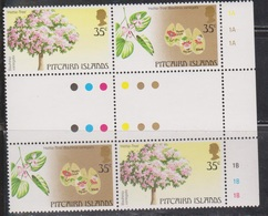 PITCAIRN ISLANDS Scott # 229 MNH - Flowers - Gutter Block - Pitcairn Islands