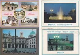 Italia Formato Grande:Cartolina BRESCIA - Lotto 4 Cartoline . Viaggiate. - Brescia