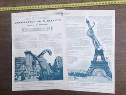 1906 L ARRESTATION DE M BERNIQUE PROFESSEUR PALEONTOLOGIE LA TOUR EIFFEL PERD SA FLECHE SCIENCE FICTION MONSTRES - Old Paper