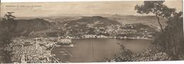 Cartolina DOPPIA - COMO Da BRUNATE - FORMATO PICCOLO - VIAGGIATA 1929 - (rif. I98) - Como