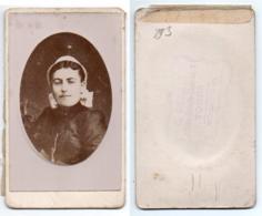 (Photo Carte De Visite) 293, Portrait De Femme, Tourangelle, Photo C Romain à Tours - Photos