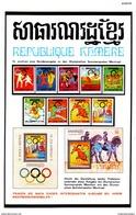 Original-Werbung/Anzeige 1976 - BRIEFMARKEN REPUBLIQUE KHMERE / OLYMPIA MONTREAL - Ca. 120 X 190 Mm - Werbung