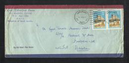 Saudi Arabia 1987 Air Mail Postal Used Cover HAIL To Pakistan - Saudi Arabia