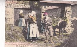 TYPES BALAGUERAIS, PRES CASTILLON, ARIEGE. CENTENAIRE. COLORISE. FAURE ET SES FILS. CPA CIRCA 1905s ETAT DELUXE - BLEUP - Personajes