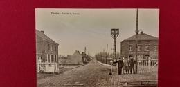 Thulin Rue De La Station Gare Cheminaux Café De La Gare Train Hensies 1920 - Hensies