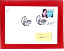 F 2019 / 1.05 €  Augustin Fresnel Obl 1er Jour 03.05.2019 Plévenon 22 Côte D'Armor / Signé Sophie Beaujard / Signature - Neufs