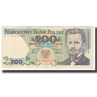 Billet, Pologne, 200 Zlotych, 1982, 1982-06-01, KM:144a, TB - Pologne