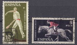 ESPAÑA - SPAGNA - SPAIN - ESPAGNE - 1960 - Lotto Di 2 Valori Usati: Yvert Posta Aerea 288/289. - Usati