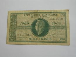 Tresor Central 1000 Francs 1944 , PREFIX Е  **** EN ACHAT IMMEDIAT **** Billet Recherché !!!! - Treasury