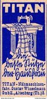 Original-Werbung/ Anzeige 1938 - TITAN NÄHMASCHINEN / WINSELMANN - ALTENBURG - Ca. 25 X 45 Mm - Pubblicitari