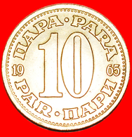 + LARGE TYPE (1965-1981): YUGOSLAVIA ★ 10 PARA 1965 MINT LUSTER! LOW START ★ NO RESERVE! - Yugoslavia