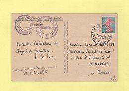 Congres Du Parlement - Versailles - 20-12-1963 - Destination Canada - Semeuse De Piel - Postmark Collection (Covers)