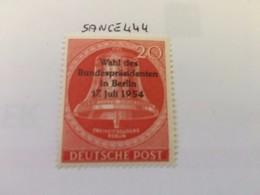 Berlin Bell Of Freedom, Elections Overprint 1954 Mnh - [5] Berlin