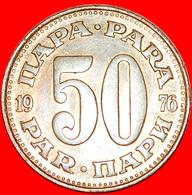 + LARGE TYPE (1965-1981): YUGOSLAVIA ★ 50 PARA 1976 MINT LUSTER! LOW START ★ NO RESERVE! - Yugoslavia