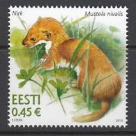 Estland 2013. Estonian Fauna – Weasel. 1 W. MNH - Estonia