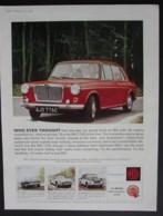 M.G.1100 MOTOR CAR  ORIGINAL  1966 MAGAZINE ADVERT - Advertising