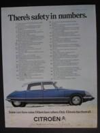 CITROEN MOTOR CAR  ORIGINAL  1969 MAGAZINE ADVERT - Sonstige
