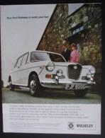 WOLSELEUY 1300 MK 11 MOTOR CAR  ORIGINAL  1969 MAGAZINE ADVERT - Sonstige