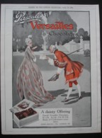 PASCALL VERSAILLES CHOCOLATES.   ORIGINAL 1921  MAGAZINE ADVERT - Sonstige