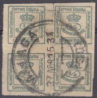 ESPAÑA - SPAGNA - SPAIN - ESPAGNE - Quartina Usata Di Yvert 172. - 1889-1931 Regno: Alfonso XIII