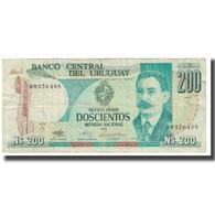 Billet, Uruguay, 200 Nuevos Pesos, 1986, KM:66a, TB - Uruguay