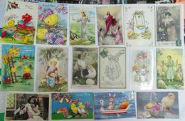 JOYEUSES PAQUES . Petit Lot De 49 Cartes ( Voir Les 3 Photos ) - Pâques