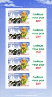 Feuillet Meilleurs Voeux Pour 2007 N° 3986Aa Année 2006 Neuf** - Mint/Hinged