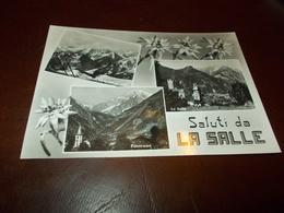 B723  La Salle Aosta Viaggiata Pieghina Angolo - Italia