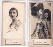 NORMA LAPUENTE; VICTORIA REGAL. AUTOGRAPHE ORIGINAL ONE ATTACHED TO THE OTHER. CIRCA 1920 SIZE 8.5x16cm - BLEUP - Autógrafos