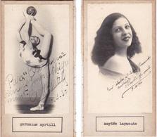GERMAINE MYRTILL; HAYDEE LA PUENTE. AUTOGRAPHE ORIGINAL ONE ATTACHED TO THE OTHER. CIRCA 1920 SIZE 8.5x16cm - BLEUP - Autógrafos