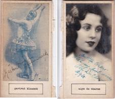 GERTRUD KLAMMEK;ALYS DU CHARME. AUTOGRAPHE ORIGINAL ONE ATTACHED TO THE OTHER. CIRCA 1930 SIZE 8.5x16cm - BLEUP - Autógrafos