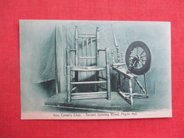 Gov Carver's Chair------  Ancient Spinning Wheel  ------Pilgrim Hall     Ref 3322 - Craft