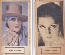 GALY DE BIRAC;THEDA DIAMANT. AUTOGRAPHE ORIGINAL ONE ATTACHED TO THE OTHER. CIRCA 1930 SIZE 8.5x16cm - BLEUP - Autógrafos