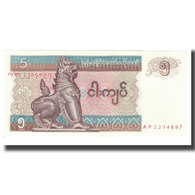 Billet, Myanmar, 5 Kyats, KM:70a, NEUF - Myanmar