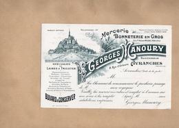 Buvard MERCERIE Bonneterie En Gros GEORGES MANOURY à AVRANCHES (Manche) - Textile & Clothing
