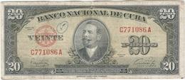 Cuba 20 Pesos 1949 Pk 80 A Ref 10 - Cuba