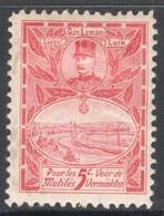 Belgie, Erinnophilie 1 Jaar 1915, Postfris Met Plakker (MH) - Commemorative Labels