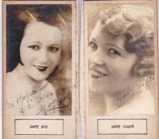 MARGY GUY; GABY LIGHT. AUTOGRAPHE ORIGINAL ONE ATTACHED TO THE OTHER. CIRCA 1930 SIZE 8.5x16cm - BLEUP - Autógrafos