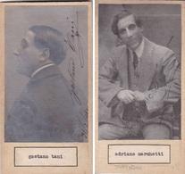GAETANO TANI; ADRIANO MARCHETTI. AUTOGRAPHE ORIGINAL ONE ATTACHED TO THE OTHER. CIRCA 1930 SIZE 8.5x16cm - BLEUP - Autógrafos