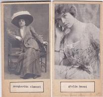 MARGHERITA ALMANSI; GIULIA BASSI. AUTOGRAPHE ORIGINAL ONE ATTACHED TO THE OTHER. CIRCA 1930 SIZE 8.5x16cm - BLEUP - Autógrafos