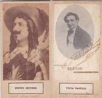 PIETRO MARESCA; ITALO BERTINI. AUTOGRAPHE ORIGINAL ONE ATTACHED TO THE OTHER. CIRCA 1930 SIZE 8.5x16cm - BLEUP - Autógrafos