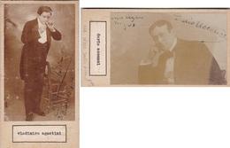 VLADIMIRO AGOSTINI;DARIO ACCONIO. AUTOGRAPHE ORIGINAL ONE ATTACHED TO THE OTHER. CIRCA 1910 SIZE 8.5x16cm - BLEUP - Autógrafos
