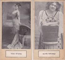 TINA D'ARCO; MARIA BRACONY. AUTOGRAPHE ORIGINAL ONE ATTACHED TO THE OTHER. CIRCA 1910 SIZE 8.5x16cm - BLEUP - Autógrafos