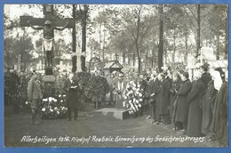 Roubaix,1916,Friedhof Roubaix,Einweihung Des Gedächtniskreuzes,Allerheiligen 1916,1.Weltkrieg, - Roubaix