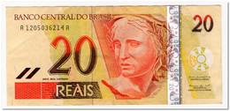 BRAZIL,20 REALS,2002-2010,P.250,BRAZIL,20 REALS,2002-2010,P.250,VF - Brazil