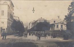 SAVONA-CORSO PRINCIPE AMEDEO-ANIMATISSIMA-CARTOLINA VERA FOTOGRAFIA-VIAGGIATA NEL 1904 - Savona