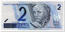 BRAZIL,2 REALS,2003-,P.249b,XF-AU - Brazil